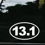13.1 Half Marathon Window Decal - https://customstickershop.us/product-category/stickers-for-cars/