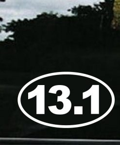 13.1 Half Marathon Window Decal - //customstickershop.us/product-category/stickers-for-cars/
