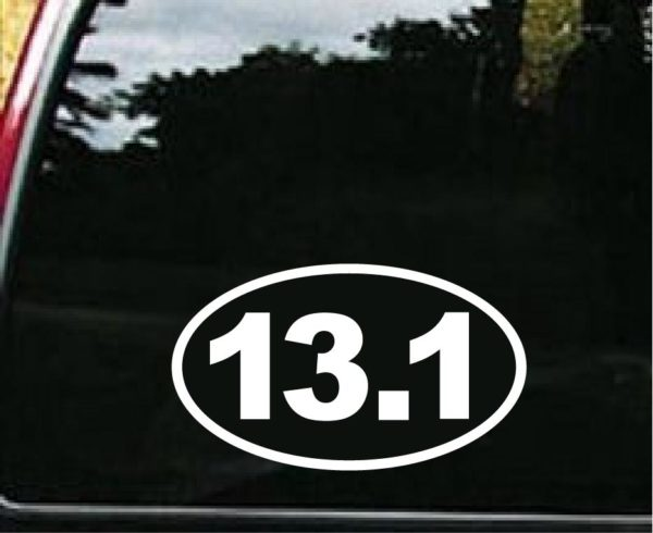 13 1 half marathon vinyl decal stickers