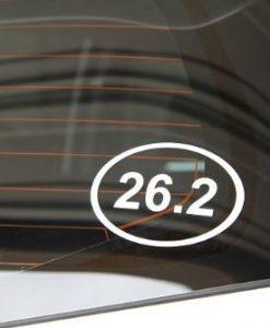 26.2 Marathon Window Decal