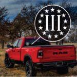 Three Percent 3 Percenter Club Truck Decal Sticker