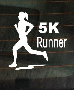 5K marathon runner female car decal - //customstickershop.us/product-category/stickers-for-cars/