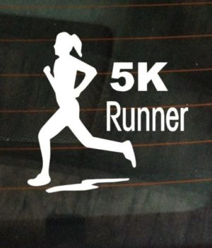 5K marathon runner female car decal - https://customstickershop.us/product-category/stickers-for-cars/