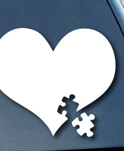 Autism Awareness Puzzle Car Decal - https://customstickershop.us/product-category/stickers-for-cars/