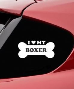 Love my Boxer Bone Window Decals - https://customstickershop.us/product-category/animal-stickers/