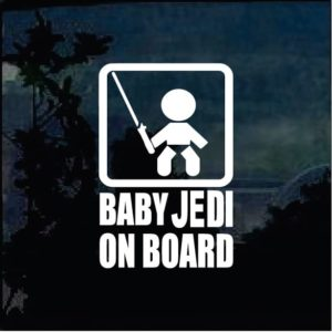 Baby On Board Sticker - Baby Jedi