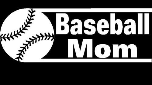 Baseball Mom II Decal Sticker - https://customstickershop.us/product-category/family-sports-stickers/