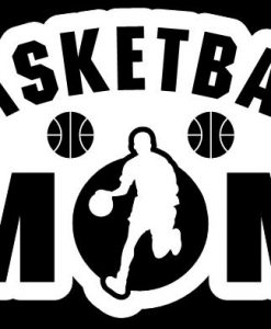 Basketball Mom Boy Decal Sticker - //customstickershop.us/product-category/family-sports-stickers/