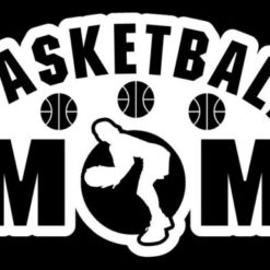 Basketball Mom Girl Decal Sticker - https://customstickershop.us/product-category/family-sports-stickers/