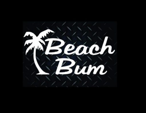 Beach Bum Stickers for Cars - https://customstickershop.us/product-category/stickers-for-cars/