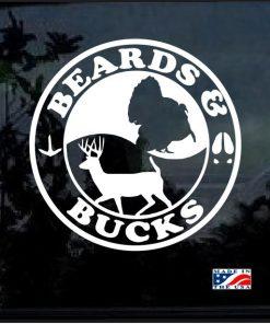 Beards and Bucks Window Decal Sticker