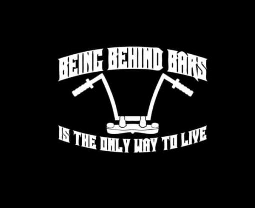 Behind Bars Motorcycle Decal Sticker - https://customstickershop.us/product-category/stickers-for-cars/