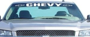 Chevy With logo Windshield Decals - http://customstickershop.us/product-category/windshield-decals/