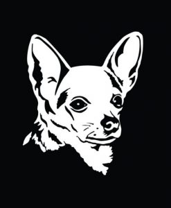 Chihuahua Head Window Decals - //customstickershop.us/product-category/animal-stickers/