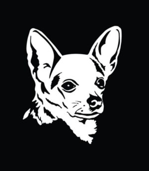 Chihuahua Head Window Decals - https://customstickershop.us/product-category/animal-stickers/
