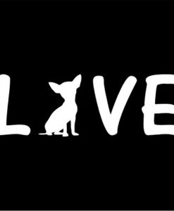 Chihuahua Love Window Decals - https://customstickershop.us/product-category/animal-stickers/