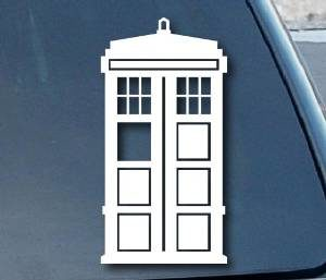 Dr Who Tardis Window Decal Sticker - https://customstickershop.us/product-category/stickers-for-cars/