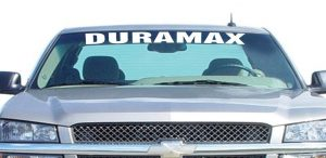 Chevy Duramax Windshield Decals - http://customstickershop.us/product-category/windshield-decals/