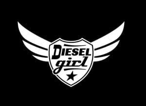 Diesel Girl Winged Vinyl Decal Stickers