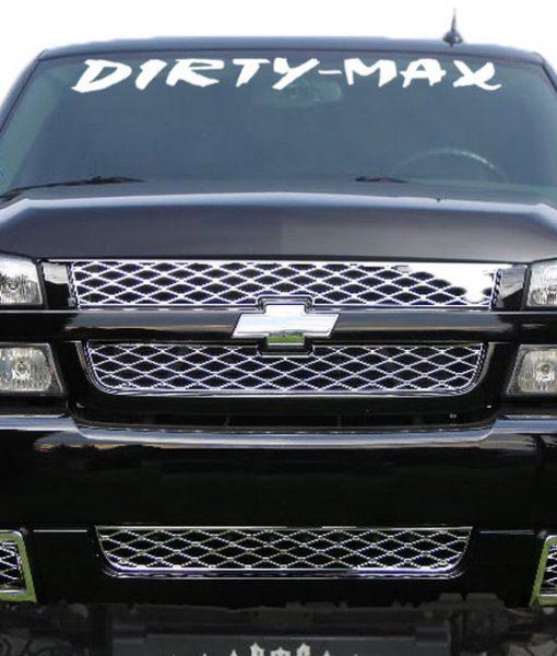 Dirty Max Duramax Windshield Decal Sticker Custom Sticker Shop - Windshield decals for trucks