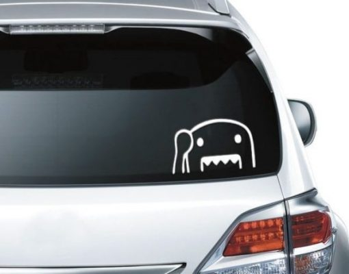 Domo Kun Santander Decal Sticker - https://customstickershop.us/product-category/stickers-for-cars/