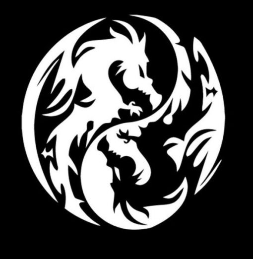 Dragon Yin Yang Car Decal Sticker - https://customstickershop.us/product-category/stickers-for-cars/