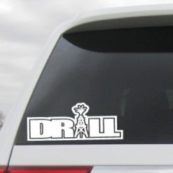 Drill Oil Field Worker Decal - https://customstickershop.us/product-category/career-occupation-decals/