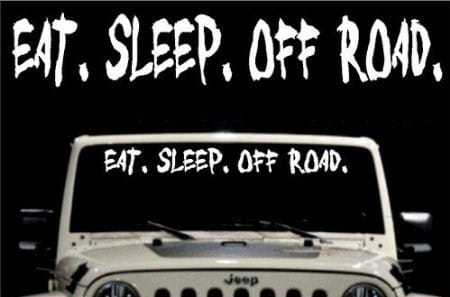 Off Road Jeep Windshield Decals - https://customstickershop.us/product-category/windshield-decals/