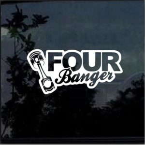 Four Banger JDM Window Decal Sticker