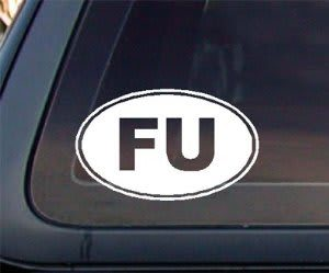 Fuck You Fu Oval JDM Stickers - https://customstickershop.us/product-category/jdm-stickers/