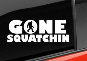 Gone Squatchin Window Decal - https://customstickershop.us/product-category/stickers-for-cars/