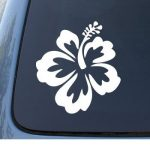 Hawaii Hibiscus Window Decal Sticker