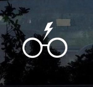 Harry Potter Glasses decal sticker