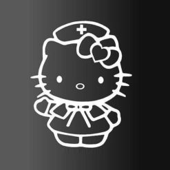 Hello Kitty Nurse Decal Sticker - https://customstickershop.us/product-category/stickers-for-cars/