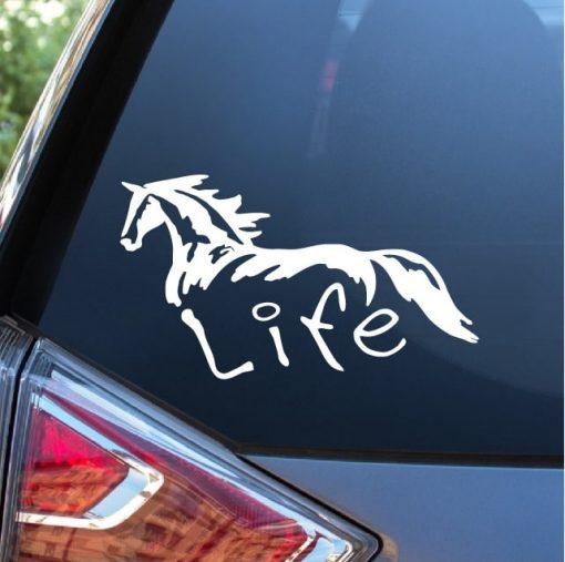 Horse Life Horse Window Decal Sticker