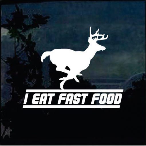 I eat fast food decal sticker