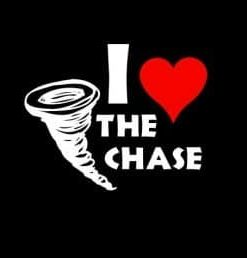 Love the Chase Storm Chaser Decal - //customstickershop.us/product-category/career-occupation-decals/