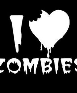 Love Zombies Zombie Stickers - //customstickershop.us/product-category/zombie-stickers/