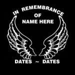Angel Wings In Loving Memory Window Decal Sticker