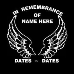 In Loving Memory Vinyl Decal Stickers Angel Wings