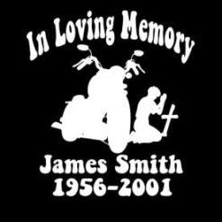 In Loving Memory Vinyl Decal Stickers Motorcycle Cross