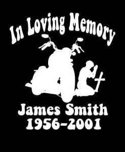 In Loving Memory Vinyl Decal Stickers Motorcycle Cross