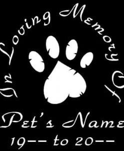 In Loving Memory Vinyl Decal Stickers Pet