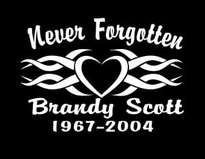 In Loving Memory Vinyl Decal Stickers Tribal Heart