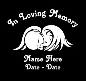 In loving Memory Decal Baby Wings - https://customstickershop.us/product-category/in-loving-memory-decals/