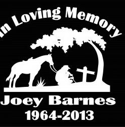 In loving Memory Decal Cowboy Cross - //customstickershop.us/product-category/in-loving-memory-decals/