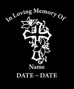 loving Memory Decal Cross Roses - https://customstickershop.us/product-category/in-loving-memory-decals/