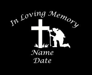 loving Memory Decal Firemen - https://customstickershop.us/product-category/in-loving-memory-decals/