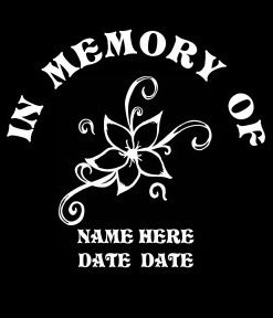 loving Memory Decal Flowers - //customstickershop.us/product-category/in-loving-memory-decals/