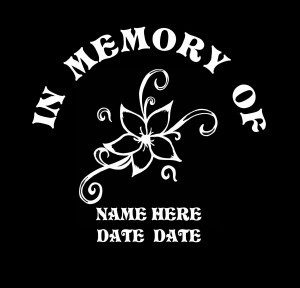 loving Memory Decal Flowers - https://customstickershop.us/product-category/in-loving-memory-decals/